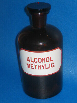 Apothekenflasche ALCOHOL METHYLIC. 1000 ml, leer