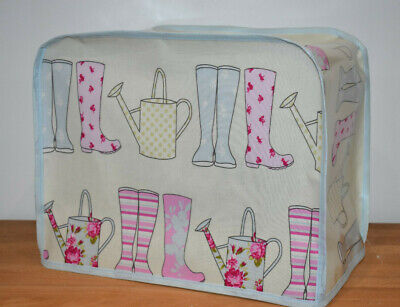 KENWOOD PROSPERO food mixer cover Pastel Wellies in Oilcloth Fabric Blue edge