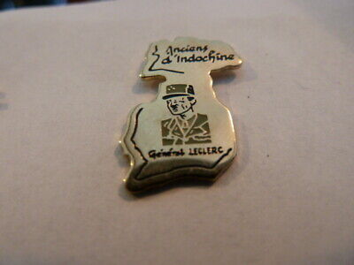 Pin's  General  Leclerc        /   Anciens D' Indochine  /     Rare