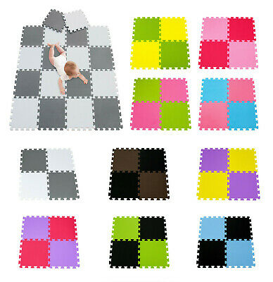 20Pcs Eva Foam Mat Soft Floor Tiles Interlocking Play Kids Baby Mats Gym 31X31cm