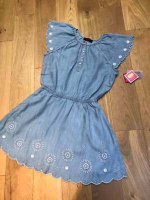 Brand new  Junior JUICY COTURE embroidered tencel floral dress  rrp £125 Age 14