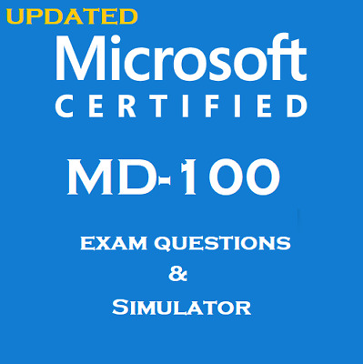 Microsoft Exam MD-100 real exam dumps questions answers and simulator