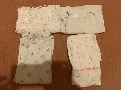 Bundle Of Two Pairs Of Little White Company Pyjamas Age 3-4