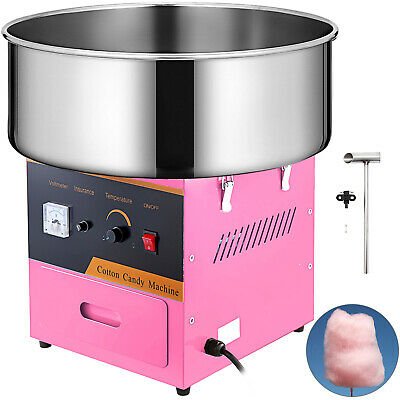 Electric Cotton Candy Machine 1030W Floss Pink Carnival Commercial Maker Party