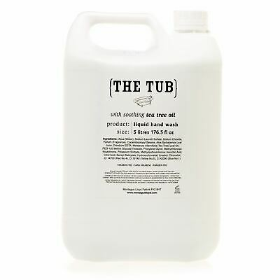Montague Lloyd 5L 'The Tub' Soothing Tea Tree Oil Hand Wash Refill (5 Litre)