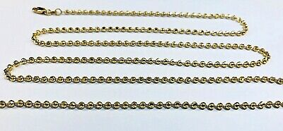 """10K Solid Yellow Gold Diamond Cut Rope Necklace Chain 2.5mm16-30/"""" Link Women Men"""