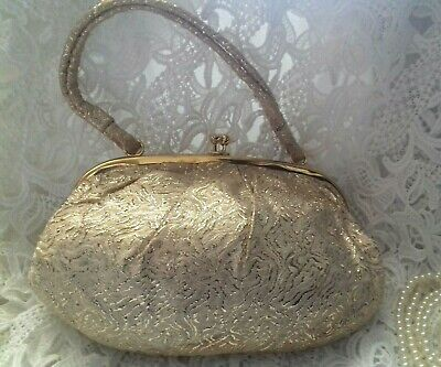Vintage 1950s gold Evening Bag 30s 40s look DEco Gatsby Peaky Blinders Downton