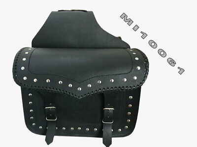 Universal Motorcycle Saddlebags Pannier Leather Bag Travel Bag Fits All Bikes-