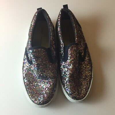 Gap Multi Colored Glitter Girls Shoes Sneakers Rubber Shoes Kids Size 3