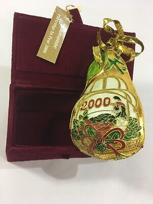 Cloisonne Partridge In A Pear 2000 Christmas Ornament Tree