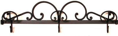 Coat Hangers Clothes Hook a 3 Places Wrought Iron Forged by hand for Fix