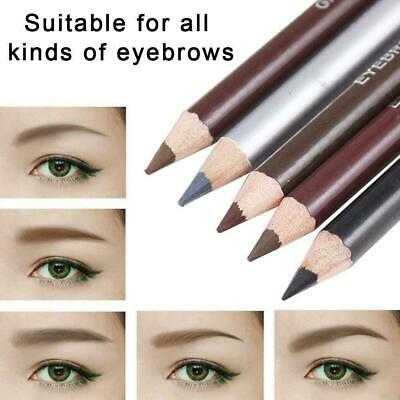 5 Colors Eyebrow Pencil Double Head With Brush Waterproof Makeup Sweatproof Q3A9