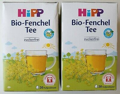 2 Packs of Hipp Organic Fennel Tea for Babies ( 2 x 20= 40 Teabags )