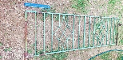 VINTAGE RETRO WROUGHT IRON DRIVEWAY GATE AND AND PATHWAY GATE Large
