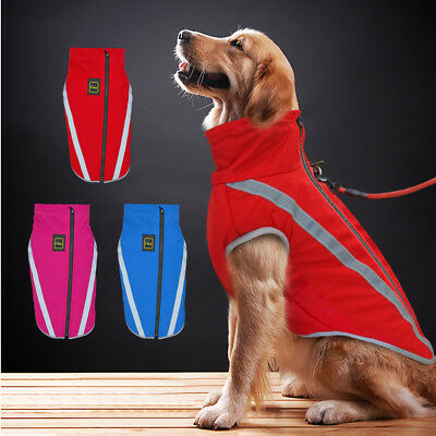 Waterproof Warm Winter Dog Coat Clothes Dog Padded Fleece Pet Vest Jacket Large~