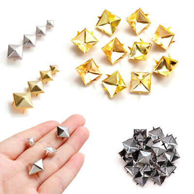 Cloth Button Leather Craft Four Claw Solid Nail Strap Rivets Square Spikes