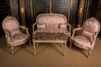 French Lounge Suite Set in Louis Seize Style