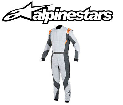 Alpinestars Gp pro Rennanzug, Fia 3-Layer Rally / Rennen - Grau/Orange EU48