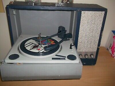 Vintage Record Player with BSR Deck