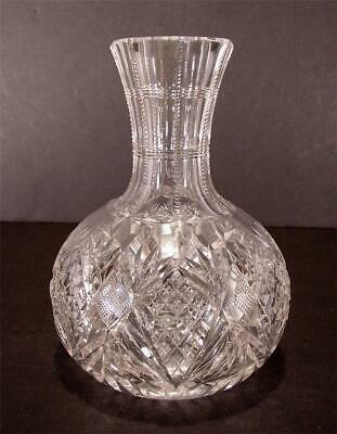 Antique Cut Glass Crystal Water Wine Carafe American Brilliant 1876-1916