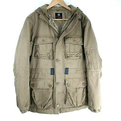 Burton Mens Medium Heavy Cotton Fully Lined Winter Duffle Coat