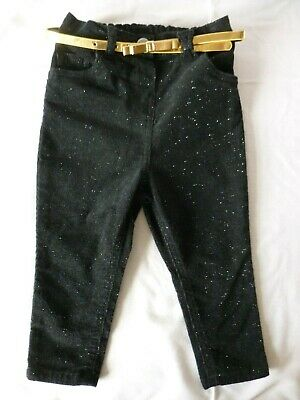 Girls Toddlers Trousers Black Glitter Age 1 - 1.5 George