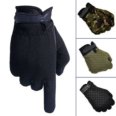 Unisex Full Finger Anti-Slip Silicon Outdoor Sport Army Military Tactical Gloves
