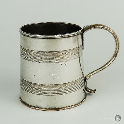 Ribbed GEORGE III OLD SHEFFIELD PLATE MUG or CUP 19th Century