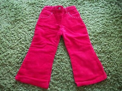 Fabulous Red Soft Feel Cords - Age 2-3 Years