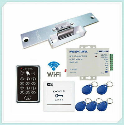 2.4G WiFi Door Access Control Keypdad Kit with Electric Fail-Secure Strike Lock