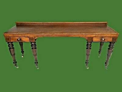 Antique Georgian Mahogany Serving Table - Side Table  Furniture