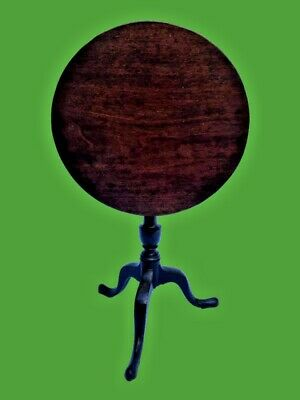 Antique Georgian Mahogany Tilt Top Table  Furniture