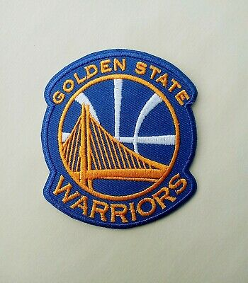 "Golden State Wareiors Large 5"" Emboidered Patch w// Mellow Border"