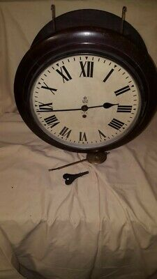 Vintage George V1 Double Dial G.P.O. station Clock