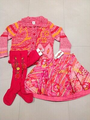 Cakewalk Oilily Designer Girls 3 Piece Outfit NWT Age 3-4  Lovely On!