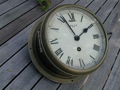 "RARE 6"" Smith Astral Smiths Bulkhead Ships Clock - WW2 era, Platform escapement"