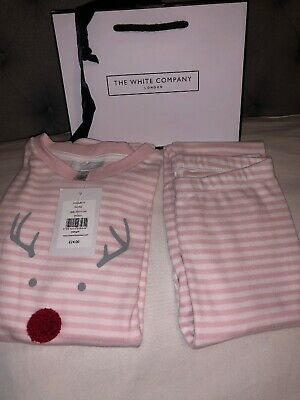 🎁BNWT The Little White Company Girls Pink PJ's Age 5-6 Yrs