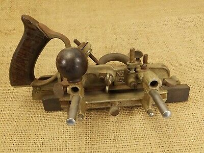 Vintage Stanley No. 45 Combination Plow Plane Wood Tool Woodworking Craftsman