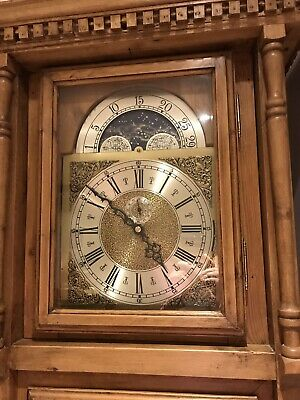Grandfather Longcase Clock Handmade Pine Case