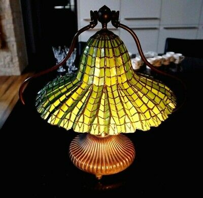 Tiffany Style Lead light  Green Desk Lamp