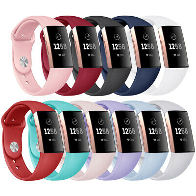 Sport Watch Band Silicone Replacement Strap Bracelet For Fitbit Charge 3