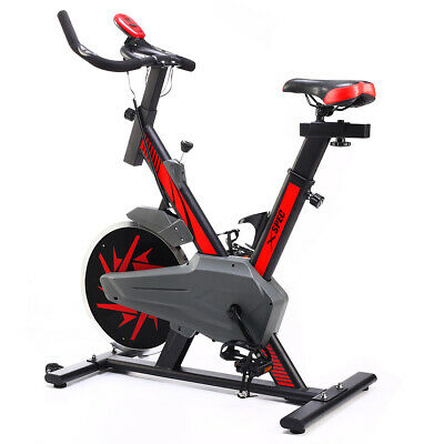 Xspec Max Pro Stationary Upright Exercise Bike w/ 25 lbs Flywheel, Red