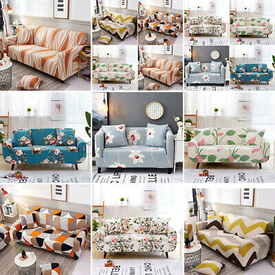 1/2/3/4 Seater Elastic Sofa Covers Slipcover Stretch Floral Couch Protector 1pc