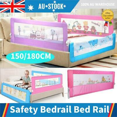 Safety Kids Toddler Bed Rail Baby Bedrail Fold Cot Guard Protection Pink/Blue AU