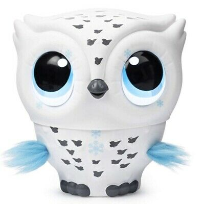 Owleez, Flying Baby Owl Interactive Toy with Light + Sounds (White) New in Box!