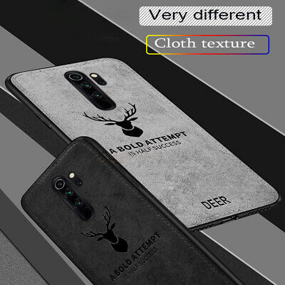 Case For Xiaomi Redmi Note 8 Pro Hybrid Fabric Soft TPU Leather Back Cover
