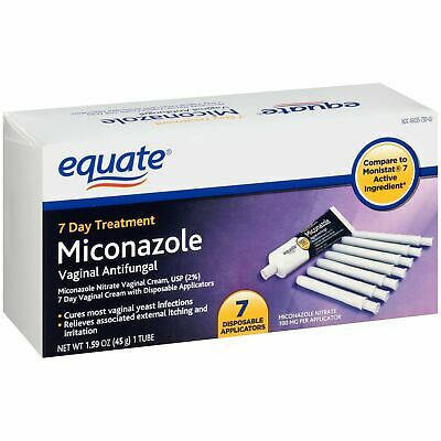 Equate Miconazole 7 Day Treatment Vaginal Antifungal Cream, EXP DATE 10/20