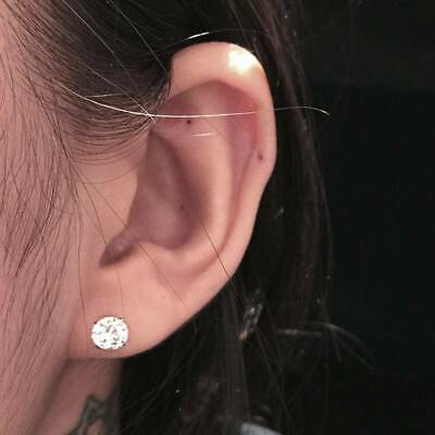 Chic Surgical 316L Stainless Steel Stud Earrings Zircon Round Unisex