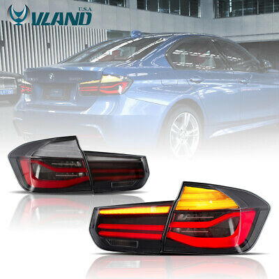 VLAND Smoked LED Tail Lights For BMW 3 Series F30 2012-2015 Sequential Indicator