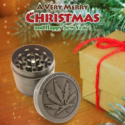 4-Layer Metal Zinc Alloy Tobacco Herb Grinder Hand Muller Smoke Crusher Spice